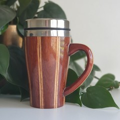 Wooden travel mug, Wooden coffee mug, Keep cup, Gift for him, Re-cyclable Cup