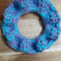 Deluxe Galaxy Crochet Hair Scrunchie