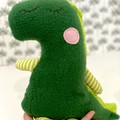 Handmade Dinosaur, READY TO POST, softie, stuffed animal