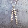 Sterling silver morse code necklace, Morse code custom necklace, Secret message