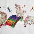 """Unicorns at Play"" Baby Blanket"