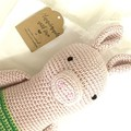 Crochet Pig, READY TO POST, crochet toy, farm animal