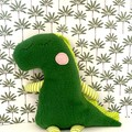 Handmade Dinosaur, READY TO POST, softie, stuffed animal