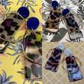Leopard print acrylic earrings