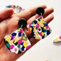 Paint Splatter drop earrings