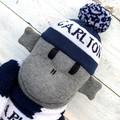 Carlton Blues Footy Sock Monkey - *READY TO POST*