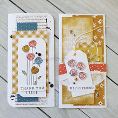 Thank You & Hello Friend Mini Slimline Card Set