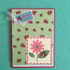 Lady Beetle Themed Thank You Greeting Card