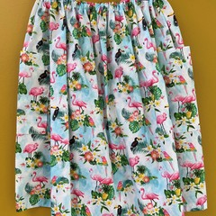 Flamingo elastic waist gathered skirt with pockets made in Australia