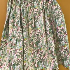 Cactus Fields elastic waist gathered skirt with pockets