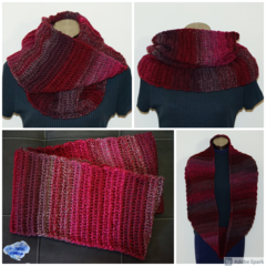 Outlander inspired (design 2) , super long infinity scarf - FREE SHIPPING
