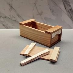 Mini Japanese Wooden Tool Box / Keepsake Box / Jewellery Box