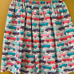 Campervan Dreams elastic waist gathered skirt with pockets