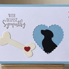 Pet bereavement  Sympathy Card - dog silhuette
