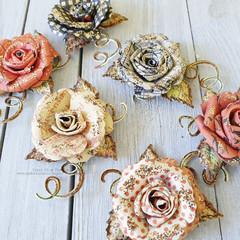 Handmade Paper Roses - Set 1