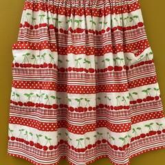 Cherry Row elastic waist gathered skirt with pockets
