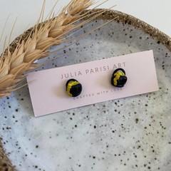 """""""Lucky Pot of Gold"""" Handmade Stud Earrings"""