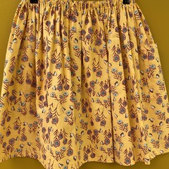 Floral Fields elastic waist gathered skirt with pockets