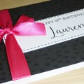 Happy Birthday card - black and hot pink