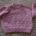 SIZE 3(+ ) yrs - Hand knitted: Acrylic, Washable, Unisex