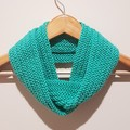 Hand knit sea foam infinity scarf