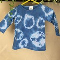 Tie dyed 100% cotton long sleeved baby tops - Size 00