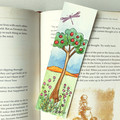Handmade Bookmark - Original Watercolour Painting - Apple Tree