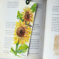 Handmade Bookmark - Original Watercolour Painting - Apple Tree