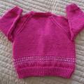 SIZE 3 yrs : Hand knitted cardigan by CuddleCorner