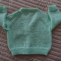 SIZE 3-9 mths - Hand knitted cardigan by CuddleCorner