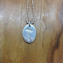 Recycled Silver'Dandelion Seed' Necklace
