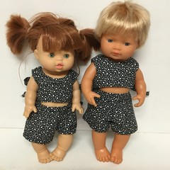Miniland and Miniknane Dolls Dressy shorts  and Top to fit 38cm Dolls