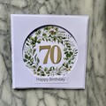 Custom Made Card - You choose the Occasion and Number of Years - Eucalyptus