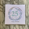 Custom Made Card - You choose the Occasion and Number of Years - Pastel Wreath