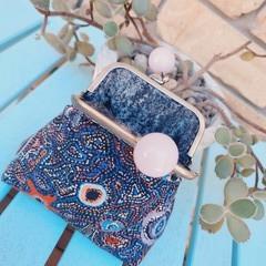 Mauve bead coin purse
