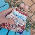 Pink bead coin purse