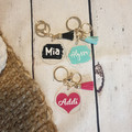 PERSONALISED CLEAR ACRYLIC KEYRING WITH TASSEL