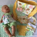 Nappy Bag and accessories for Baby Doll - woodland animals