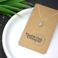 Little Egg - Handmade Solid Sterling Silver Teardrop Pendant with Fine Chain
