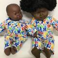 Dolls Pajamas to fit 40cm Miniland  Soft Body Dolls