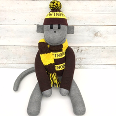 Hawthorn Hawks Footy Sock Monkey - *READY TO POST*
