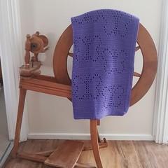 Purple Butterfly Crochet Baby Blanket