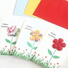3 Handmade Birthday Cards, Floral Birthday Card For Her, Mum Card