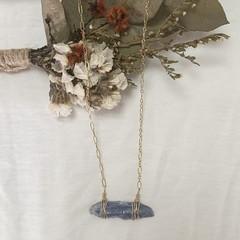 Kyanite multi chain necklace gold 50cm chain