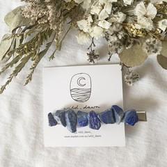 Lapis lazuli hair clip
