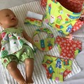Nappy Bag and accessories for Baby Doll - wonky houses
