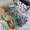 Nappy Bag and accessories for Baby Doll -kookaburra
