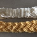 Hand crocheted braided headbands / ear warmers