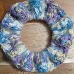 Deluxe Tutti Fruity Crochet Hair Scrunchie