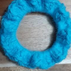 Aquarius Crochet Hair Scrunchie